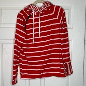 Boutique Only   Striped Hooded Sweater   Hoodie